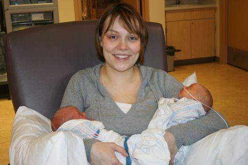 Twins with Mama