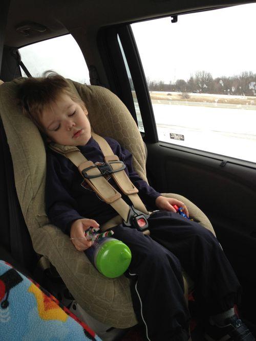 Asleep in carseat