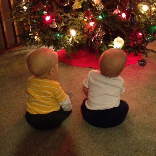 Twins sitting